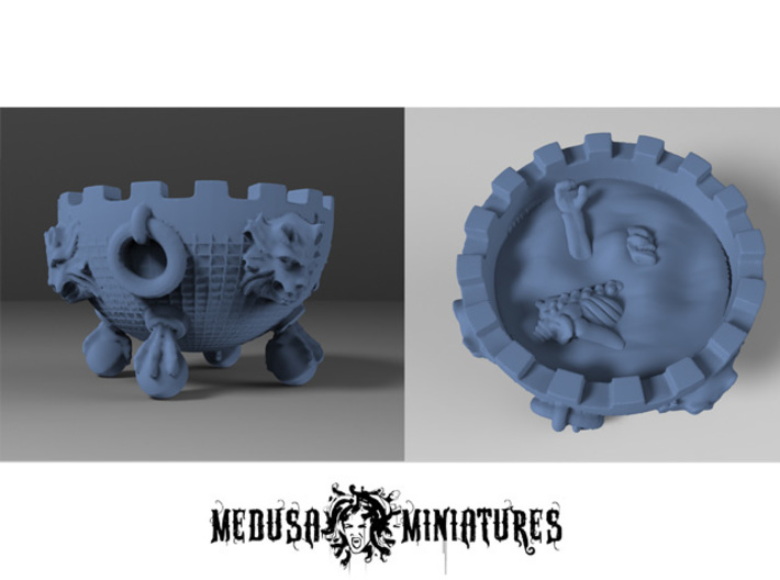 Witch Cauldron 28mm rpg PROP 3d printed