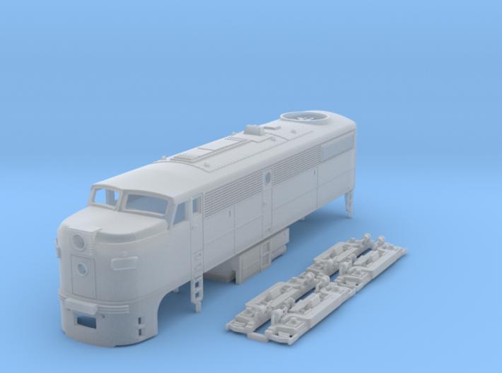 TT Scale ALCo FA-1 3d printed