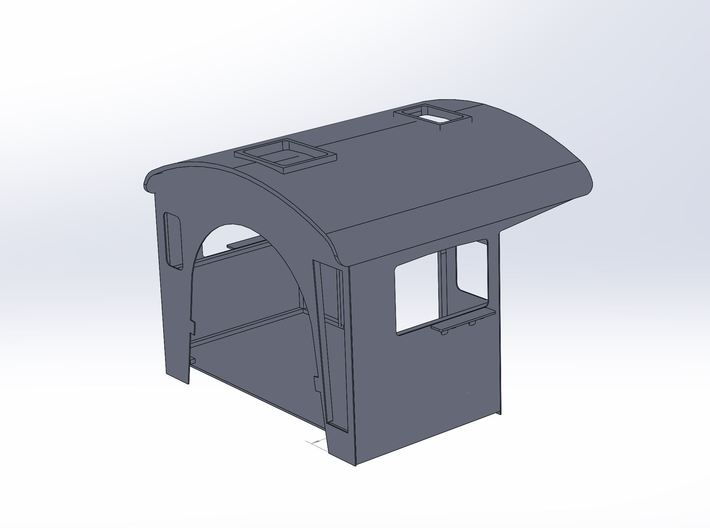 Valley RailRoad 3025 Cab HO Scale 3d printed Finished Solidwork model