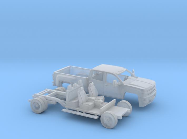 1/64 2015 Chevrolet Silverado Dually Long Bed Kit 3d printed