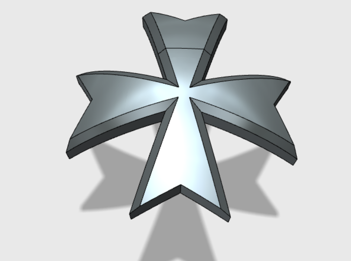 60x Maltese Cross : Shoulder Insignia pack 3d printed
