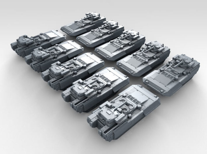 1/700 Russian T-15 Armata HIFV x10 3d printed 3d render showing product detail