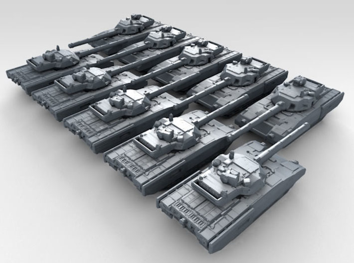 1/600 Russian T-14 Armata Main Battle Tank x10 3d printed 3d render showing product detail