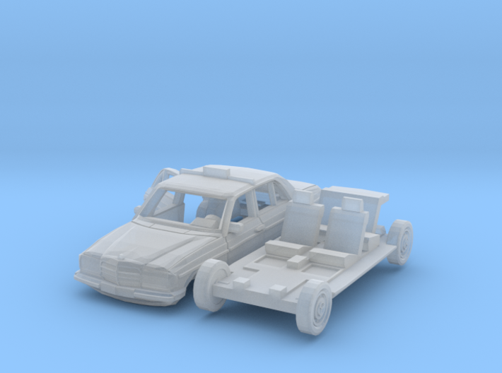 Mercedes-Benz W123 Taxi w/ open door (N 1:160) 3d printed