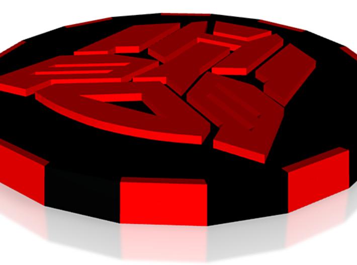 Poker Chip 3D Print AUTOBOT 3d printed