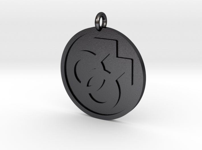 Double Male Pendant 3d printed