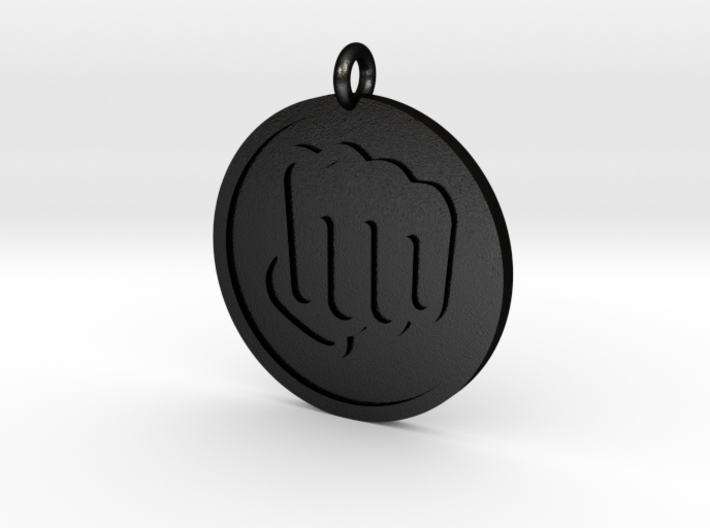 Fisted Hand Pendant 3d printed
