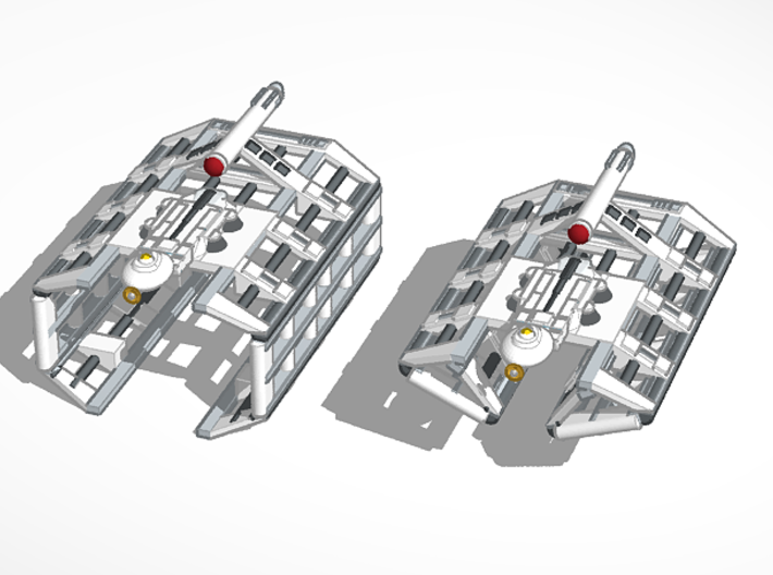 5k Mk1 St Lo class MCR Complete 3d printed ship can be built in deployed or travel configuration