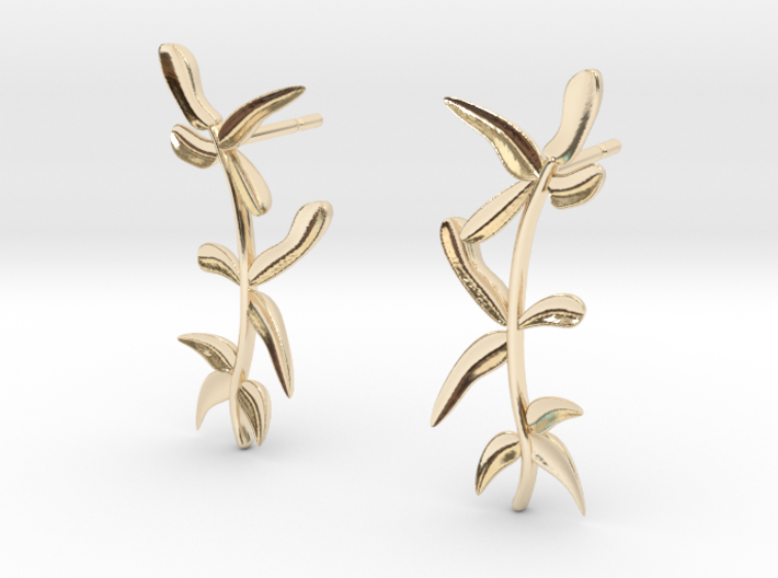 """At The French Window"" Laurel Earrings - SMK 3d printed"