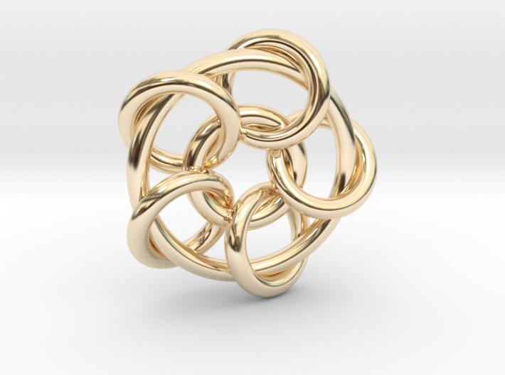Interlock Pendant 3d printed