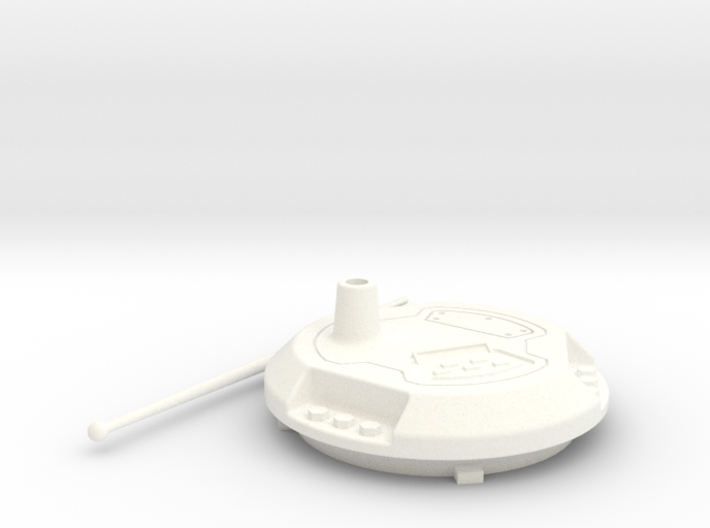 HISS Turret Filler w/ Antenna 3d printed