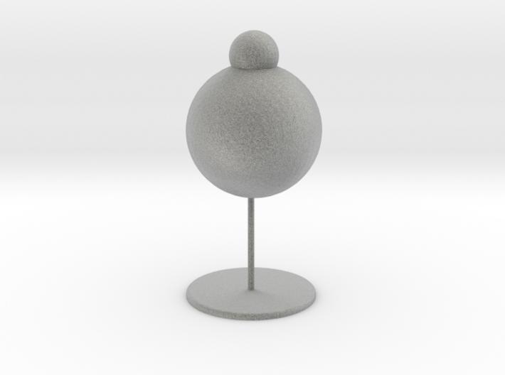 Snowman table lamp 3d printed