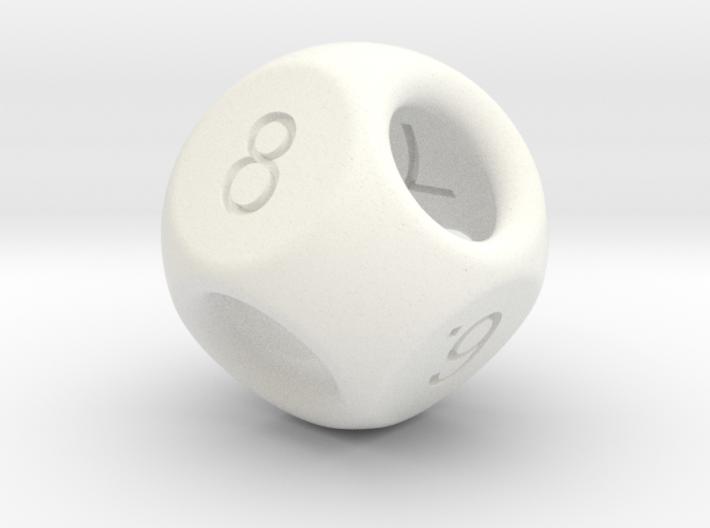 Hidden Odd Numbers D8 Dice 3d printed