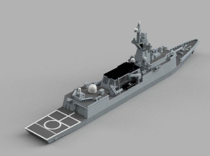 1/1800 ROKS Incheon 3d printed Computer software render.The actual model is not full color.