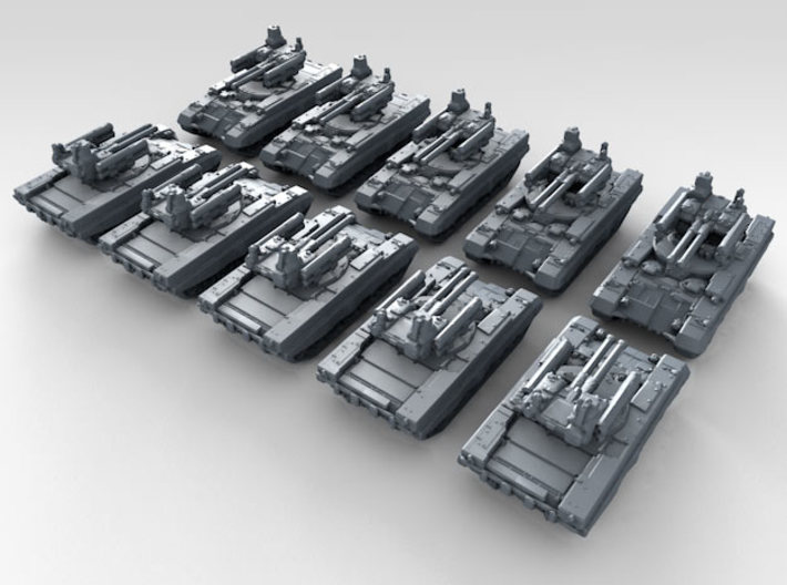 1/600 Russian BMPT Terminator AFV x10 3d printed 3d render showing product detail