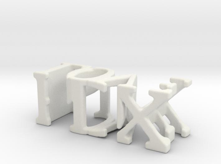 3dWordFlip: PDX/LOVE 3d printed