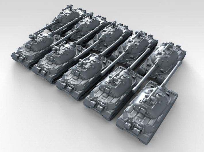 1/700 Russian IS-7 Main Battle Tank x10 3d printed 3d render showing product detail