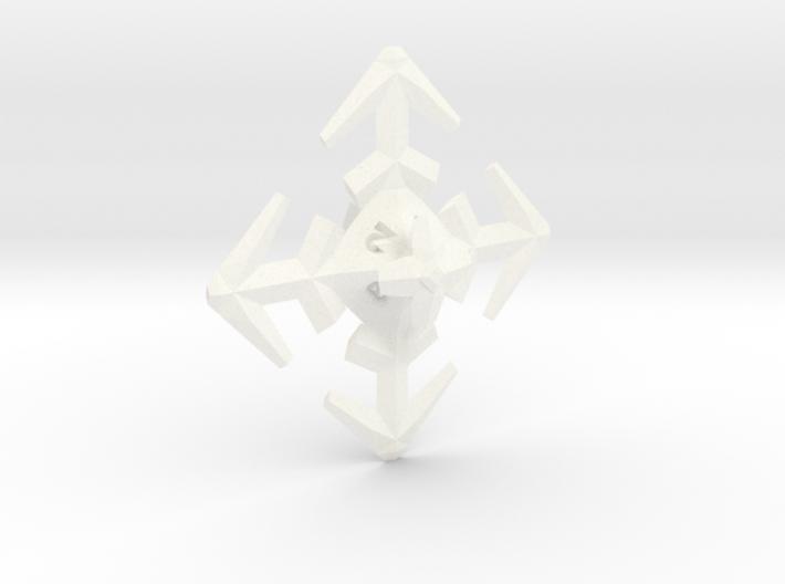 Snowflake D8 3d printed