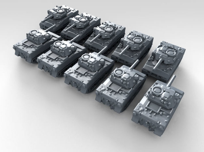 1/600 US XM800T LAW Light Tank x10 3d printed 3d render showing product detail