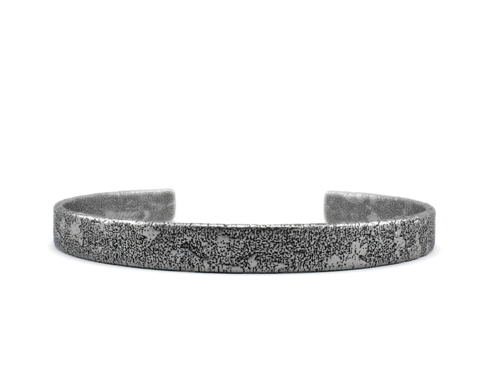 Corrosion - Size 8.50 Sterling Silver Bangle Brac 3d printed Aged silver option. Available here: https://shop.pj3dartist.com/products/corrosion-bracelet