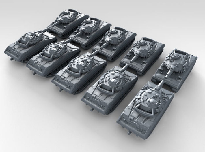 1/600 US M551 Sheridan Light Tank x10 3d printed 3d render showing product detail