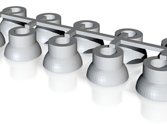 2' Ceiling Fixture: T1W x10 3d printed