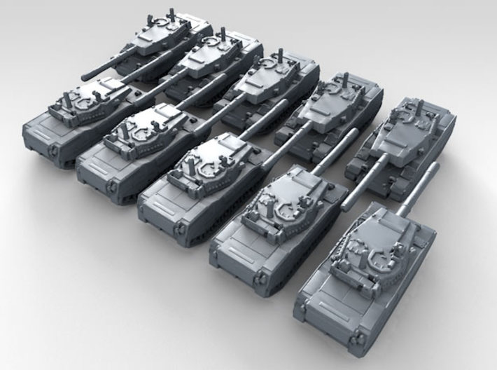 1/700 US Stingray II Light Tank x10 3d printed 3d render showing product detail