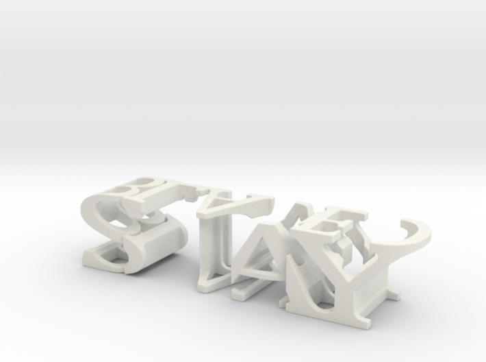 3dWordFlip: STAY/BLADED 3d printed