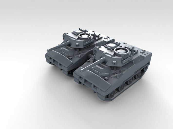 1/285 (6mm) US XM800T LAW Light Tank x2 3d printed 3d render showing product detail