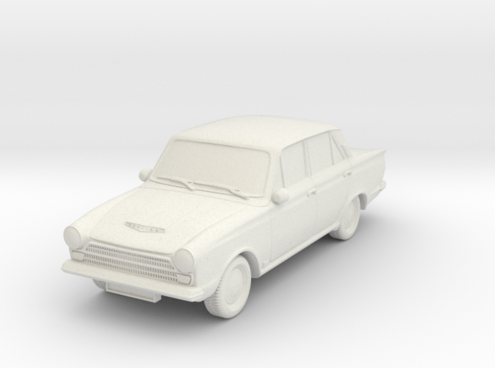 1-87 Ford Cortina Mk1 4 Door Wheels Attached 3d printed