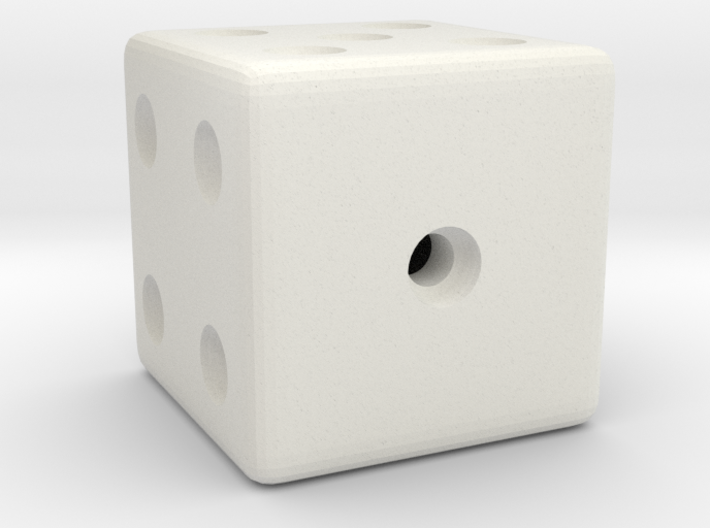 Weighted, or Loaded Die (Favors a Roll of 1) 3d printed