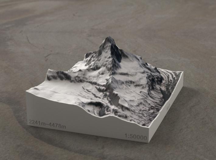 Matterhorn, Switzerland/Italy, 1:50000 3d printed