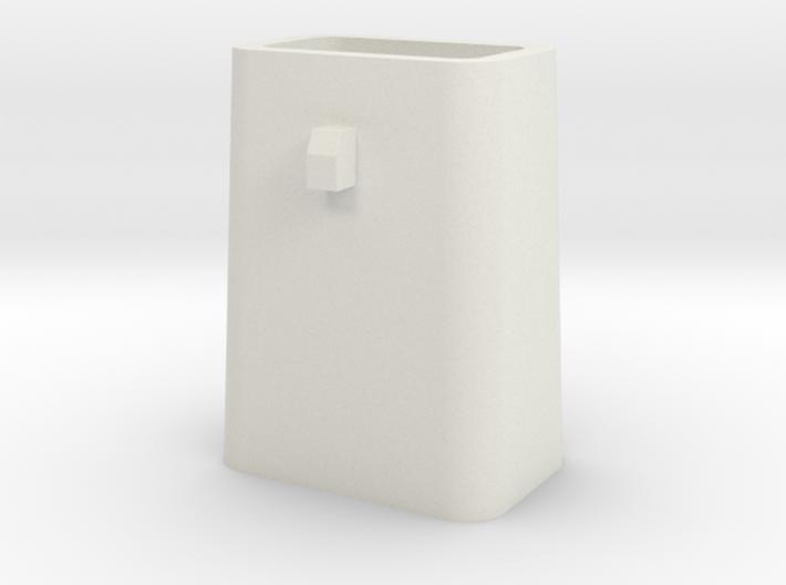 Stahlkokille 2 Zapfen quer mit Boden 1:120 3d printed