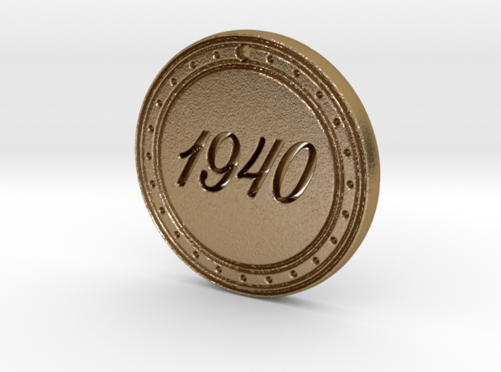 1940 Birth Year Pendant 3d printed