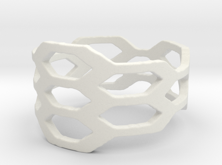 Honeycomb Wide Ring 3d printed