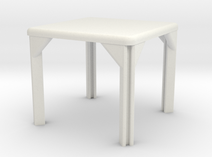 Table, Stadio 96, Square (Space: 1999), 1/30 3d printed