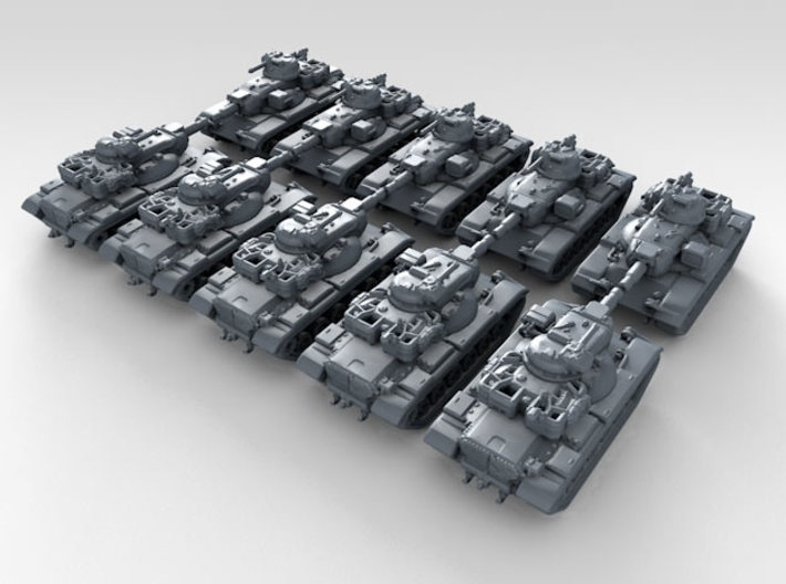 1/700 US M60A2 Starship Main Battle Tank x10 3d printed 3d render showing product detail