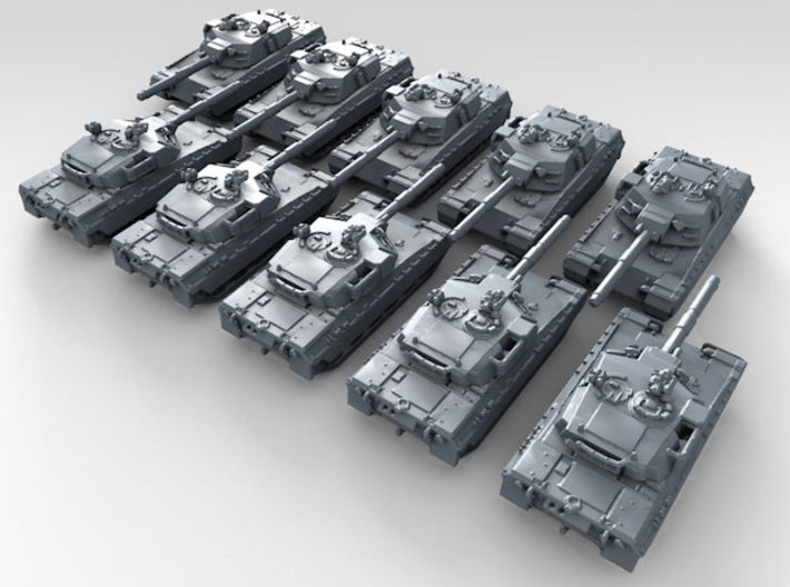 1/600 US XM1 Prototype Main Battle Tank x10 3d printed 3d render showing product detail