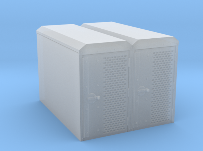 OO Gauge (1/76) Cycle Lockers Set of 2 joined 3d printed