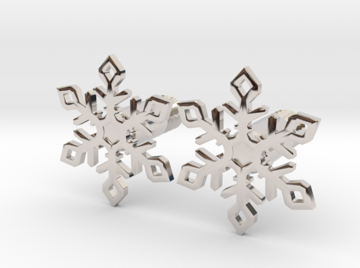 Snowflake - Medium with Bolt 3d printed Snowflakes