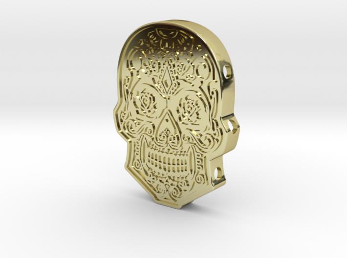 Skull Cuff 3d printed