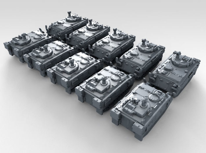 1/600 British FV438 Swingfire ATV x10 3d printed 3d render showing product detail