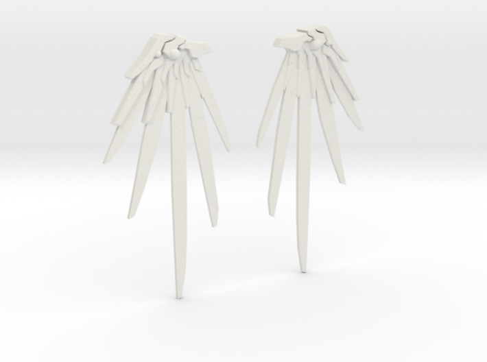 Overwatch - Mercy Wing Earrings 3d printed
