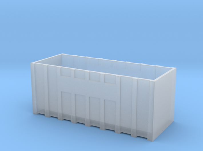 N Gauge Roll On Roll Off Skip 3d printed