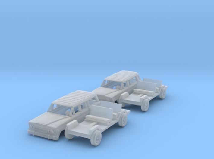 SET Jeep Cherokee & Jeep Wagoneer (N 1:160) 3d printed