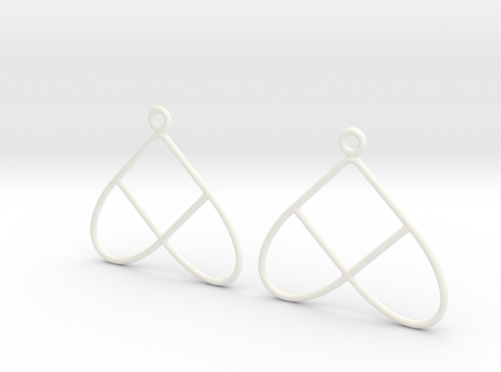 Celtic Weave Earrings - WE028 3d printed