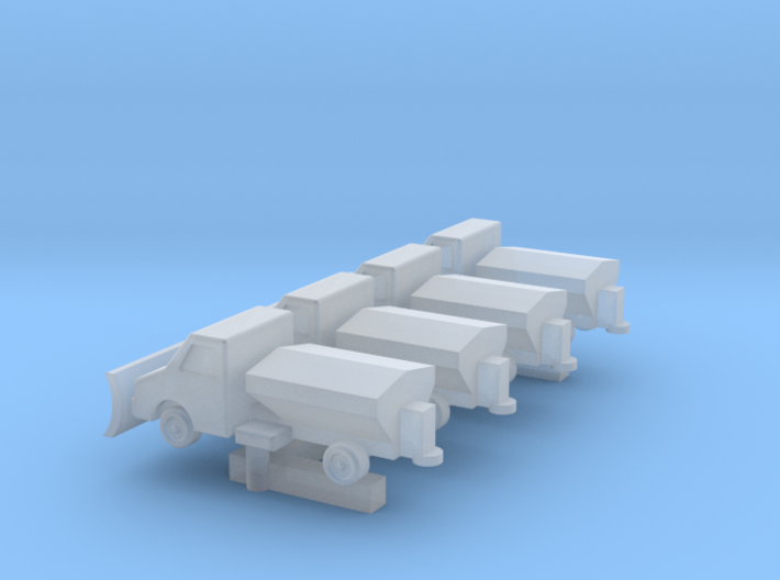 GSE 1:400 Snow Clearing Truck (4pc) 3d printed