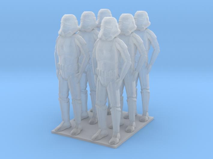 1/72 Troopers X 6 3d printed