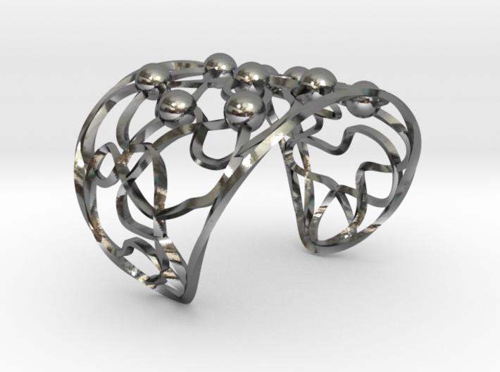 Twisted Bead Bangle 3d printed