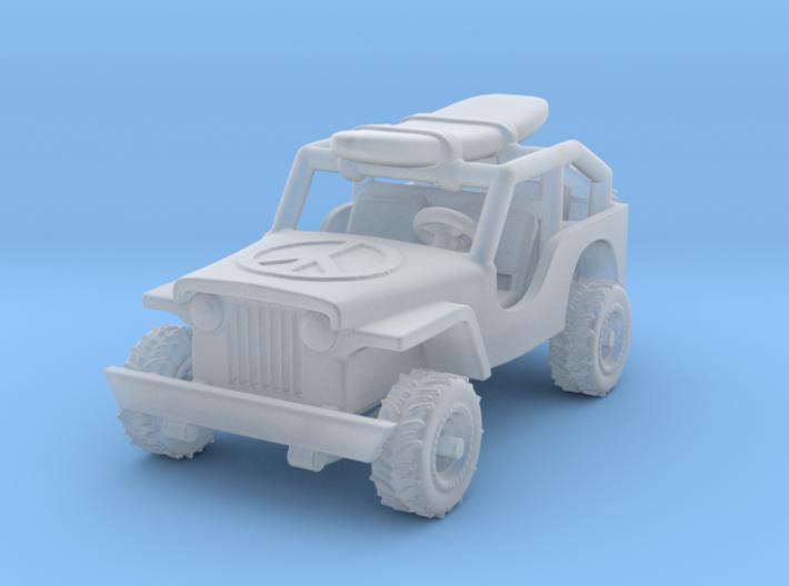 Jeep 1:87 HO 3d printed